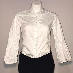 Boden bell sleeve white blouse